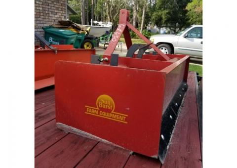 Sun Burst  Farm Equipment 6ft Box Blade